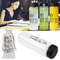 Wholesale Bottled Water Design - My bottle water Bottle Korea Style New Design Today Special Plastic Sports Water Bottles Drinkware With Bag Retail Package
