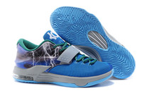 Wholesale Kd Cheap Price - New Kd7 VII Cheap Mens Basketball Shoes kd 7 Lightning & Thunder Sneakers kds Flash 6 colors Factory Price Discount Size 7~12