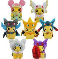 Wholesale pokemon video games for sale - newest Poke Mega XY Pikachu Charizard Magikarp Brinquedo Plush Toys Stuffed Doll With Tag CM