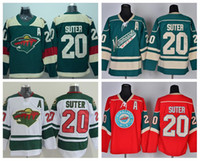 Wholesale Ryan Suter - Minnesota Wild 20 Ryan Suter Stadium Series Jerseys Ice Hockey For Sport Fans Men Team Color Green White Red Embroider Best Quality