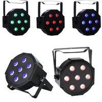 x x w toptan satış-Led sahne ışıkları RGBW Par Işıkları 10 W x 7 LED DMX512 4-in-1 Par Sahne Aydınlatma Süper Parlak Düğün için DJ Olay Parti Gösterisi