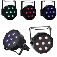luzes de palco led RGBW Par Lights 10W x 7 LED DMX512 4-em-1 Par Stage Lighting Super Bright para festa de festa para DJ de casamento DJ