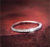 nişan halkası ebadı 6.5 toptan satış-Döşeme ayarı Lüks Takı Vintage Topraklar 925 Ayar gümüş Topaz CZ Elmas Düğün Nişan Band Yüzükler Kadınlar için Boyutu 5-9 Solmaya Asla