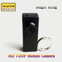 Wholesale Hd Dvr Button Camera - Low Light H.264 720P HD Mini DVR Spy Button Camera Video Recorder with Magic Controller Remote in Retail Box Dropshipping