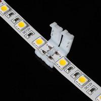 conectores de tira led de 8mm al por mayor-Los nuevos conectores de tira llevados para 8 mm 3528 y 10 mm 5050 smd y 4pin DC RGB 5050 tiras de LED luz sin soldadura rápida led