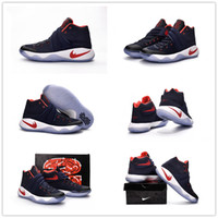 Wholesale Usa Shoes For Men Cheap - 2016 New Arrival Kyrie Irving 2 Team USA Men's Basketball Shoes for Top quality Cheap Sale Irving2 II Sports Training Sneakers Size 40-46