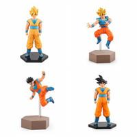 Wholesale fight good - Anime Dragon Ball Z Fighting Super Saiyan Ver. Son Gohan Son Gokou PVC Action Figure Collectible Model Toy free shipping in stock