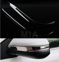 Wholesale Stainless Steel Rearview Side Mirror Cover Trim Strip Emblems For Toyota Rav4