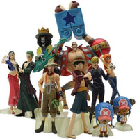 Wholesale Action Hands - 10pcs lot Anime Figure One Piece Action Figure Luffy Nami Roronoa Zoro Hand-done Dolls Collection One Piece 2 YEARS LATER