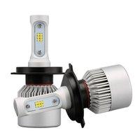 lâmpadas led h16 venda por atacado-2 Pcs H4 LEVOU H7 H11 9005 9006 HB4 S2 CSP Chip Auto Farol Do Carro 72 W 8000LM Alta Baixa Feixe Tudo Em Um Automóvel Lâmpada 6500 K 12 V