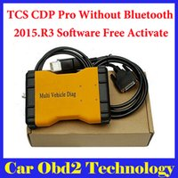 Wholesale Diag Box - DHL Free !(3PCS LOT) 2015.R3 Mulit Vehicle Diag MVD Without Bluetooth Same Function As TCS CDP Pro For CARS TRUCKS 3 IN1 + Carton box