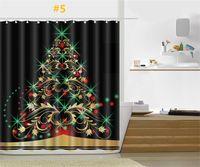 Wholesale modern pattern curtains - Merry Christmas Shower Curtain 165*180cm Santa Claus Snowman Pattern Bathroom Shower Curtain For Christmas Decoration Top 10 kinds