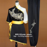 Wholesale Chinese Clothes For Boys - Customize Chinese wushu uniform Kungfu clothing exercise suit taolu garment Martial arts outfit for boy women children girl men kids adults