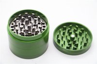 1pc 40MM CNC 4 Pièces fumeurs Herb Grinder en alliage de zinc métal tabac 6 couleurs Spice Pollen Mini Muller main Crusher Cheap Wholesale Grinder