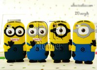 Wholesale pink minions resale online - 3D Minions Despicable Me2 Soft Silicone For iphone S S C Plus Samsung galaxy S3 S4 S5 S6 Note3 DHL