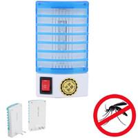 luz nocturna de mosquitos al por mayor-Mini LED tipo de luz nocturna Zócalo eléctrico repelente de mosquitos Insecto Asesino Asesino Lámpara nocturna Zapper 110 / 220v