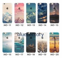 Wholesale london cover - For iphone 7 plus Transparent Clear Soft TPU Scenery Case Beautiful Mountain City Tower Snow Scenery London Back Phone Cover for iphone 6s