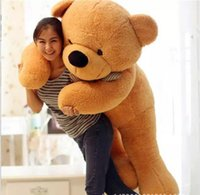 "Wholesale Big White Teddy - Free shipiping new 6 FEET BIG TEDDY BEAR STUFFED 5 Colors GIANT JUMBO 72"" size:180cm Valentine's Day Birthday Gift"