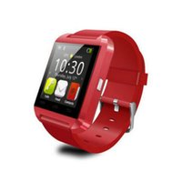 red apple digital achat en gros de-Livraison gratuite U8 Bluetooth Smart Wrist Watch Sport Montre numérique Mate multi-langue Pour iOS Android Red