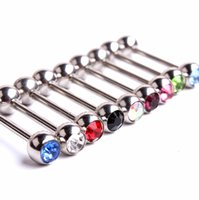 Wholesale 1 MM Eye Nail Barbells Stainless Steel Crystal Eyebrow Rings Labret Lip Piercing Jewelry Body Piercing Jewelry