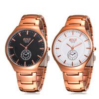 Wholesale Tungsten Watches For Men - Fashion Gold Tungsten Steel Man Sport Waterproof Watches for Man Luxury Brand Business Watch Quartz Analog Calender Crystal Watch