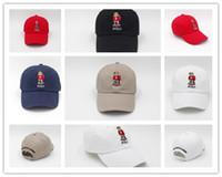urso vermelho venda por atacado-Moda Hot Mais Recente barato Por Atacado chapéu Upsoar Red Hat Autêntico polos urso Pai Boné de Beisebol Kanye West TLOP drake cap casquette
