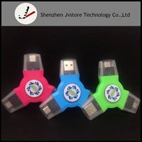Wholesale C Rotation - Multi Function USB Type A Adapter Male to Type C Android Converter Adapter Banner Charger Rotation EDC Hand Spinner Fidget spinner