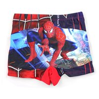 Man Short Swimming Trunk online - 15 designs baby Swimwear Pants Cartoon Spide man Mickey Cars Pattern Boy Spiderman Shorts Swimming Pants swimsuit 2-6T Free shipping E812
