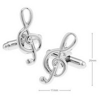 Wholesale Musical Note Cufflinks Unisex Shirt Accessory C00442 CAD