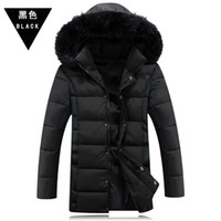 Wholesale Mens Long Button Coat - Fall-Free shiping 2016 Winter Jacket Men Thickening Casual Cotton Jackets Outdoors Windproof Breathable Sport Coat mens coat 1253
