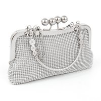 Wholesale Wedding Accessories Rhinestone Clutch Bag - Hot Women's Lady Fashion High Quality Rhinestone Evening Clutch Bag Purse Handbag Shoulder bag Wedding Bridal Bag Accessories