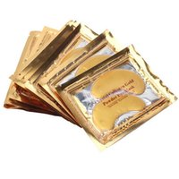 Wholesale Stick Crystals Sheet - Anti-Wrinkle NEW Crystal Collagen Gold Powder Eye Mask Golden Mask stick to dark circles Hotsale eye patches
