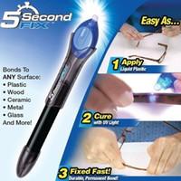 pegamento uv fix al por mayor-Compuesto de soldadura de plástico líquido líquido para herramientas de reparación de luz UV de pegamento UV para pegar Pvc 5 en segundo lugar, 5 segundos