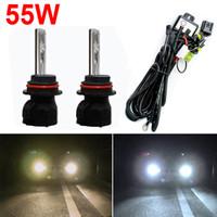 Wholesale Car Kit Hid Bi Xenon - LEEWA Car HID Bulbs 9004 9007 Hi Lo Bi-Xenon + Harness Xenon Replacement HID Bulbs AC 12V #2429