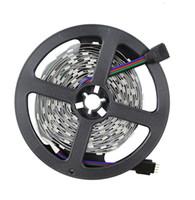 3mm 12v führte weiß großhandel-5 mt / los 5 mt 150LED nicht wasserdicht 12 V SMD 5050 flexible licht weiß / warmweiß / rot / blau / grün / gelb / RGB LED streifen, 60LED / m