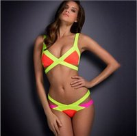 Wholesale Sexy trangle Swimwear bikini womens bandage bikinis set push up swimsuits secret bathing suits agent provocateur bikini