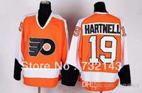 Wholesale Wholsale Hockey Jerseys - 2016 Wholsale 2013 Philadelphia Flyers #19 Scott Hartnell Orange Ice Hockey Jerseys Emboridered Logos Size 48-56 Free Shipping