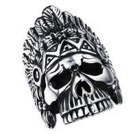 Cool Skeleton Design Rings For Man Personality Нержавеющая сталь Vintage Men Jewelry Punk Man Party Ring Finger Bands FGJ485