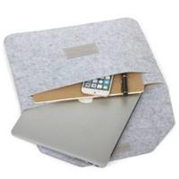 bolsas de accesorios ipad al por mayor-Sentido de protección bolsa Fundas Macbook Air Pro Retina 11 12 13 15 pulgadas portátil de almacenamiento accesorio del bolso viaja de la bolsa de sobres Bolsas