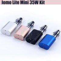 Wholesale Chargeable Cigarettes - Authentic Jomo Lite 35w Mini starter Kit 850mAh Battery box Mod USB Chargeable Jomo BGO 40 65w Mini E cigarettes vapor mod Portable kits DHL