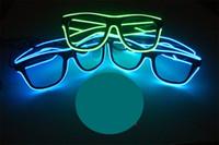 Wholesale Toy Men Black Glasses - New hot el fluorescent glasses luminous glasses toys led light glasses 10 kinds of colors optional factory direct FF