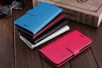 Wholesale Classic Crazy Horse - Classic Crazy Horse Wallet Leather Pouch Case For Iphone 8 7 Iphone7 I7 6 6S Plus SE 5 5S OnePlus 3 TPU ID Card Stand Skin Cover Luxury 1pcs