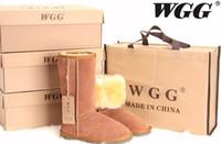 beige große stiefel frauen groihandel-FREIES VERSCHIFFEN Hohe Qualität WGG Frauen Klassische Stiefel Frauen Stiefel Schnee Stiefel Winterstiefel Lederstiefel Stiefel US