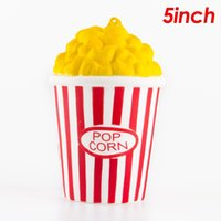 Wholesale Wholesale Squeeze Toys - 20pcs Kawaii Squishy Squishies Jumbo Popcorn Slow Rising Scented Squeeze Easter Stress Relief Phone Straps Kids Adults Toy Free Shipping