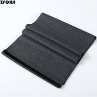 Wholesale Muffler Scarf For Men - Wholesale- ZFQHJJ 180x30cm Mens Scarf Fashion Solid Formal Business Shawl Wrap Thicken Warm Cashmere Scarf Muffler Neckerchief for man Gift