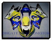carenado azul amarillo al por mayor-Inyección 100% nuevo kit de carenado adecuado para Suzuki GSXR1000 2003 2004 GSX-R1000 2003 2004 GSXR 1000 03 04 # LW853 AMARILLO AZUL
