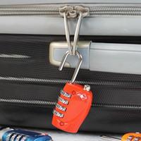 candados de equipaje tsa al por mayor-TSA Correa de equipaje Cerraduras Dígito Aleación de plástico Cerradura Contraseña Aduana Equipaje Candado Combinación Maleta Candado Equipaje Cerradura de viaje