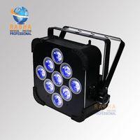 Wholesale Led Uv Light Flat - Rasha Hot Sale Hex 9pcs*18W 6in1 RGABW UV Battery Operated Wireless LED Flat Par Light Stage Light