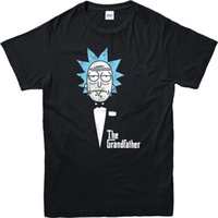 Wholesale Cool T Shirts For Men - Rick and Morty T-Shirt,The Granfather Godfather Spoof T Shirt Top Cotton Tee Shirts For Men Men Cool Tees Tops Men Lastest