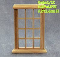 Wholesale Wholesale Miniature Frames - DIY 1:12 Scale Dollhouse Miniature 9 Panel Glass Window Frame Lot 2 frames